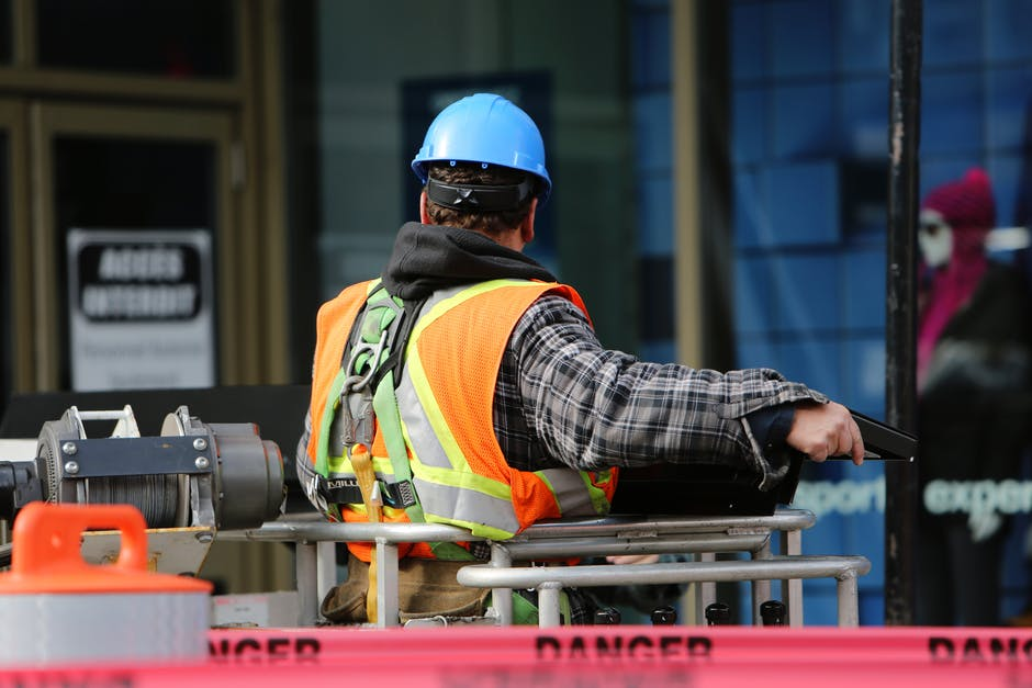 Workers compensation Insurance for Man Wearing Hard Hat Standing