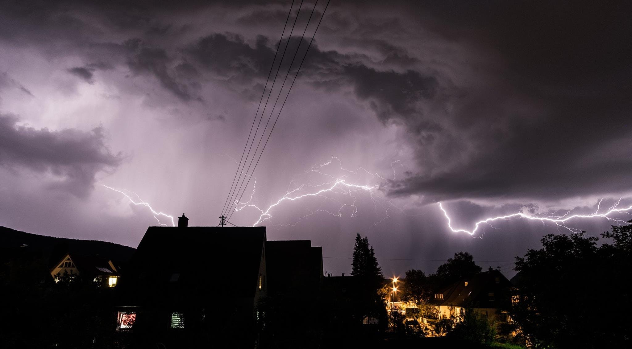 Photo Of House And Lightning Storm