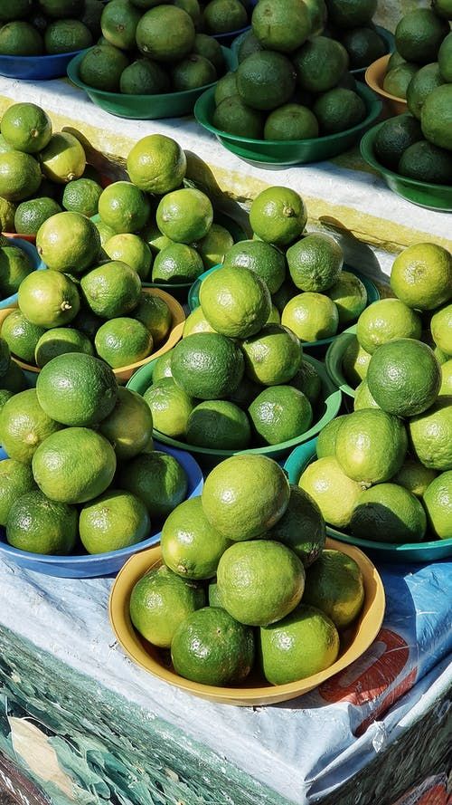 Close-Up Shot of Piles of Limes
