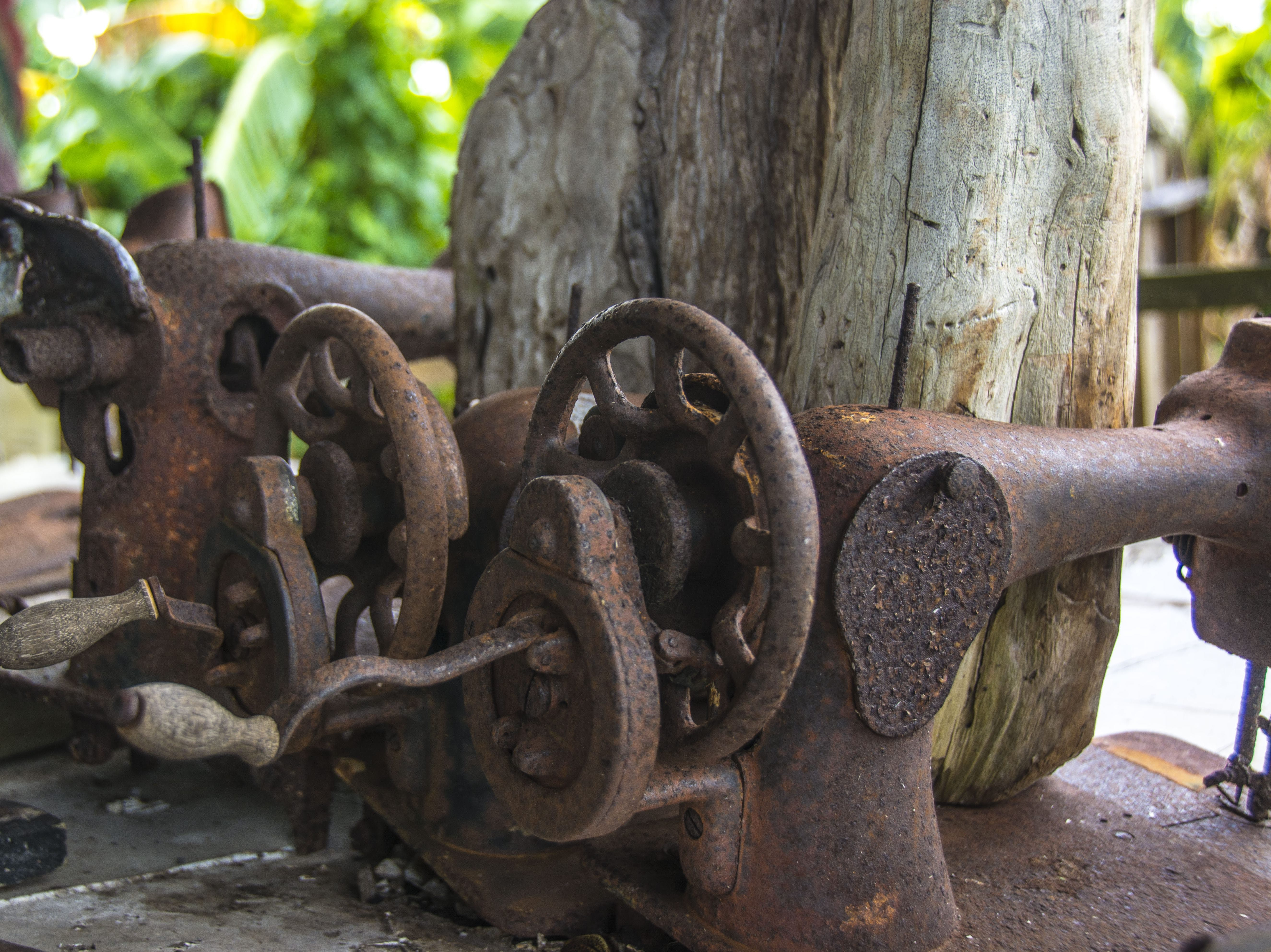 Free stock photo of rustic, rusted, sewing machine