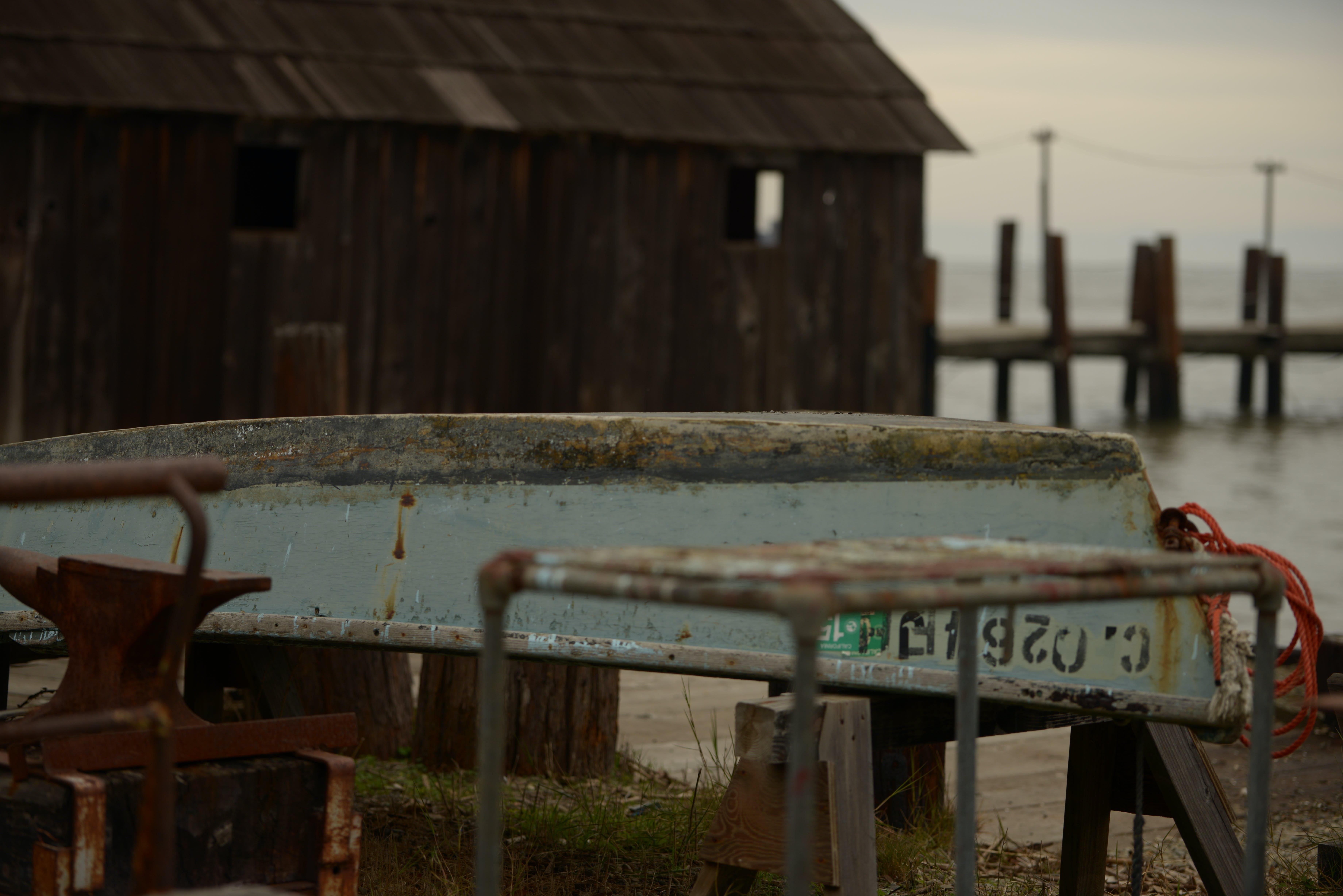 Základová fotografie zdarma na téma člun, doky, rustikální, zrezivělý
