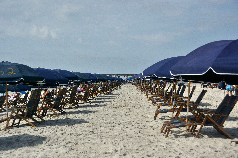 Free stock photo of beach, sand, beach chairs