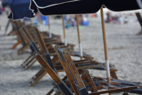Free stock photo of beach, beach chair, beach chairs, sand