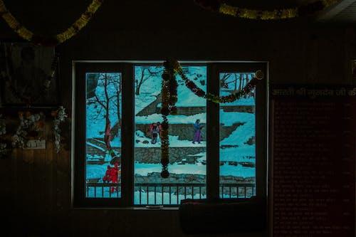 Free stock photo of snow, temple, temple window