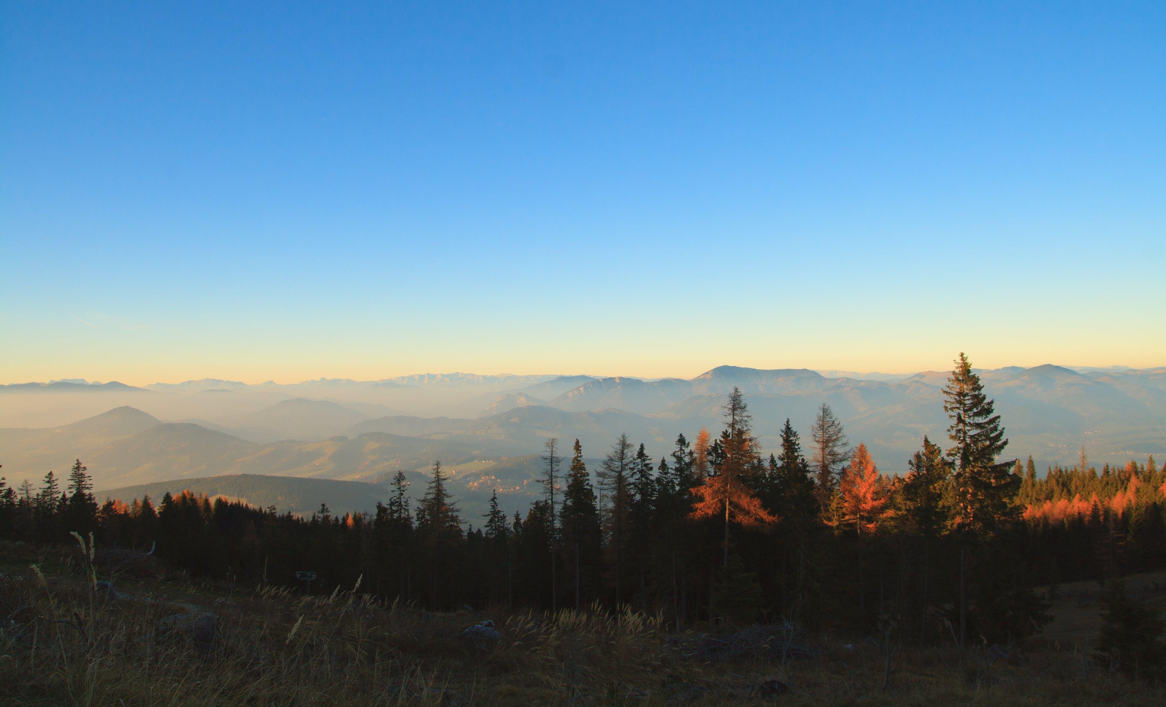 山岳, 山脈, 広角撮影, 日光の無料の写真素材