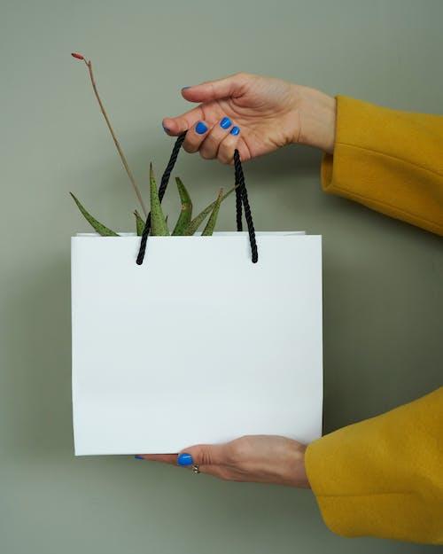 Fotos de stock gratuitas de amarillo, blanco, bolsa de papel