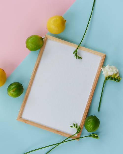 Lemons and A Wooden Frame