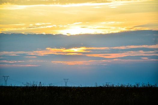 Free stock photo of sunset, horizon
