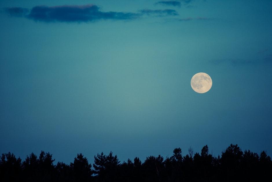 moon, night