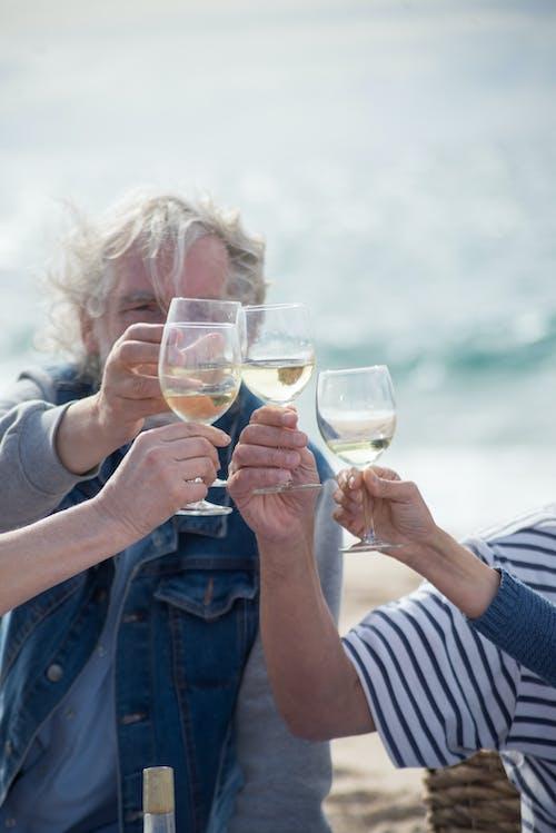 คลังภาพถ่ายฟรี ของ การผ่อนคลาย, ชนแก้ว, ชายหาด