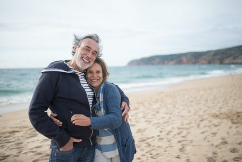 Free stock photo of affection, beach, couple