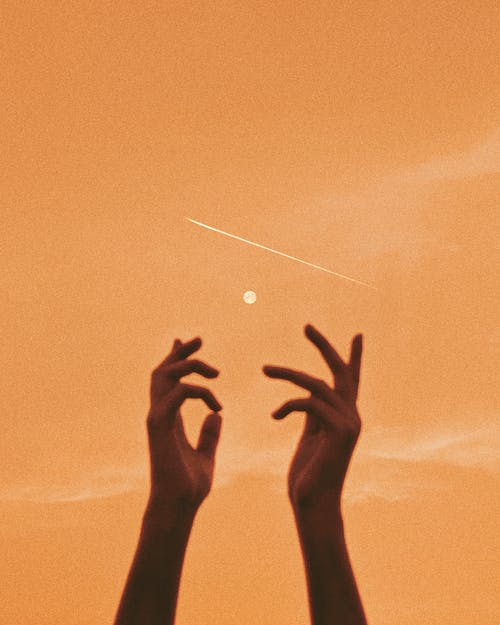 คลังภาพถ่ายฟรี ของ จันทรา, ดวงจันทร์, ดาวตก