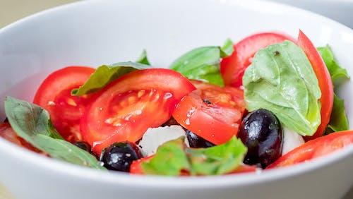 Free stock photo of balanced, basil, black olives