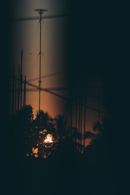 คลังภาพถ่ายฟรี ของ พระอาทิตย์ตกที่สวยงาม, หน้าต่างกระจก