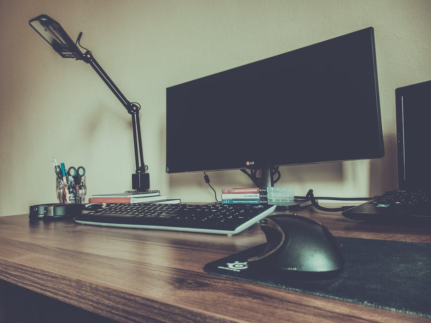 New free stock photo of light, desk, laptop