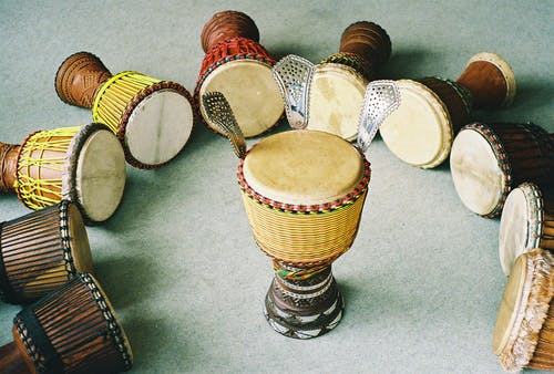 Free stock photo of africa, african drums, djembe, djembes