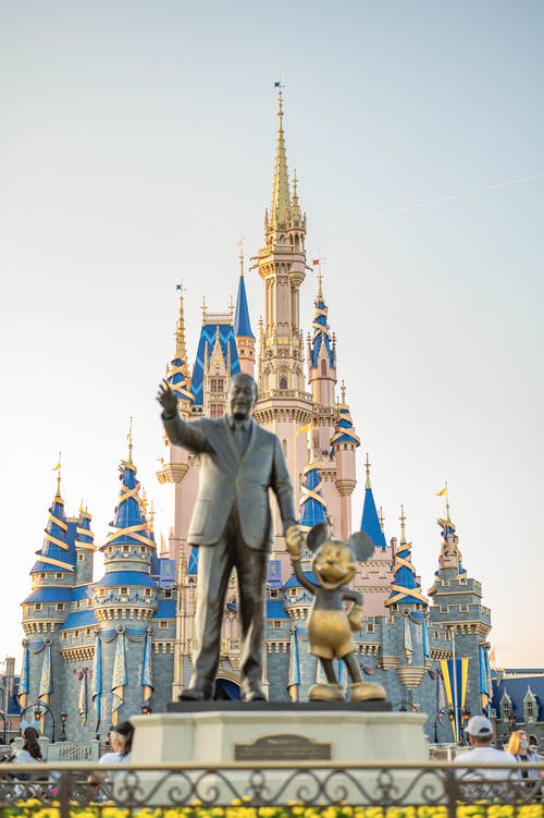 Gold and Blue Castle Under White Sky