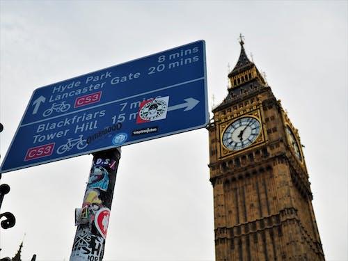 倫敦, 倫敦大笨鐘, 兰卡斯特门, 塔山 的 免费素材照片