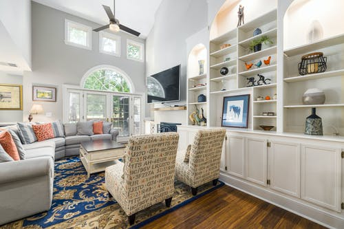 Foto profissional grátis de apartamento, assento, banco