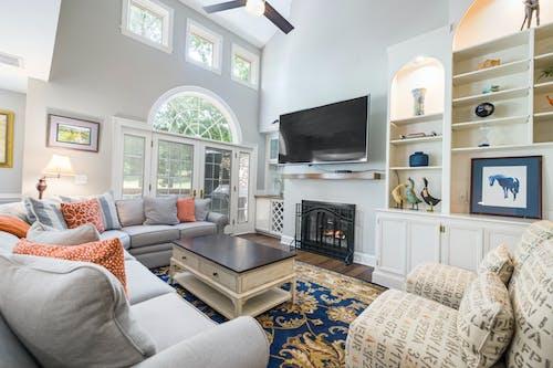 Foto profissional grátis de almofada, apartamento, assento