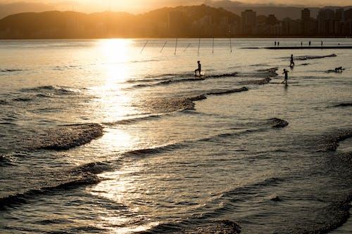 Ilmainen kuvapankkikuva tunnisteilla aallot, auringonlasku, auringonvalo, aurinko