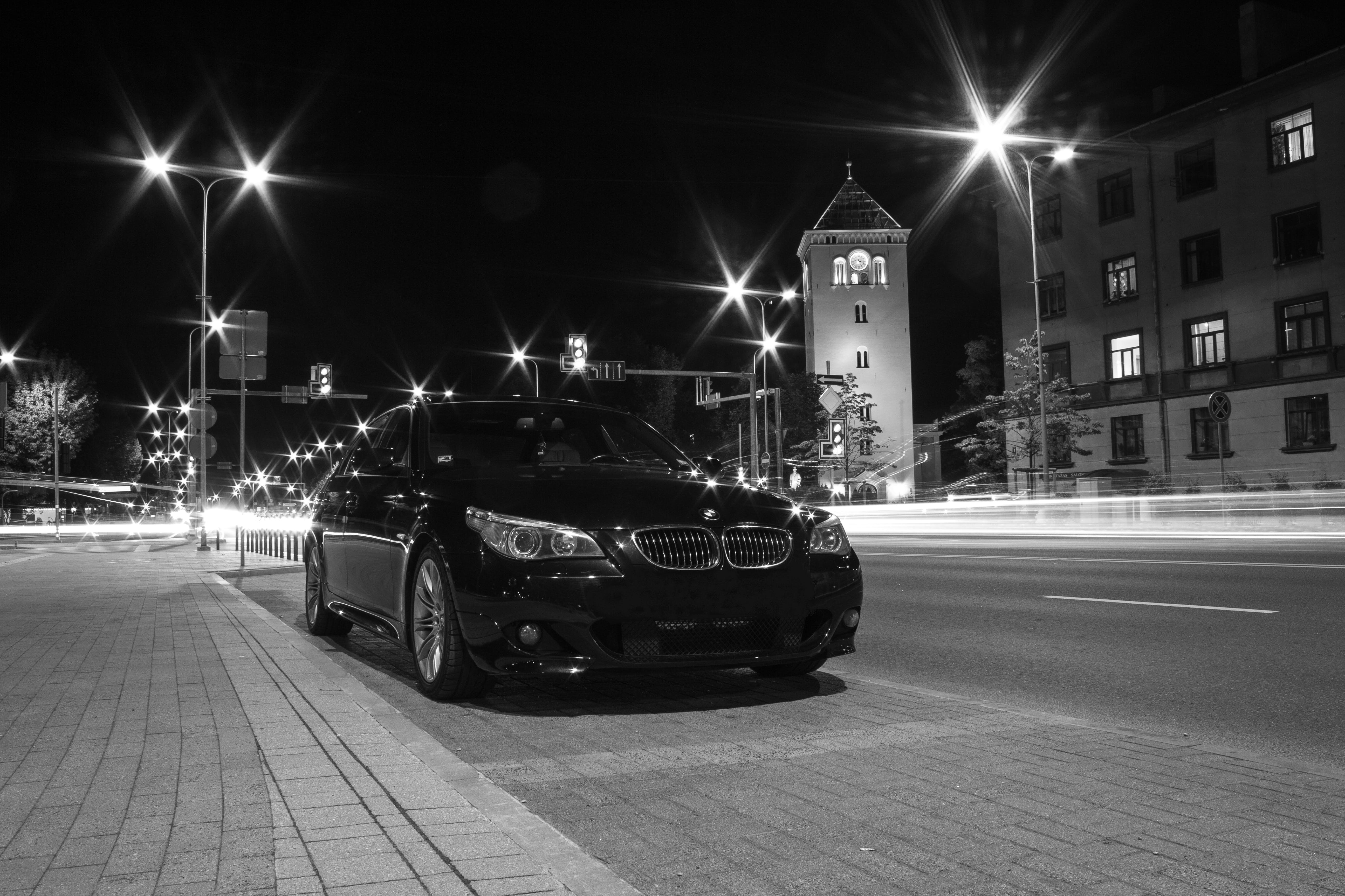 Free stock photo of black, black and white, BMW, car