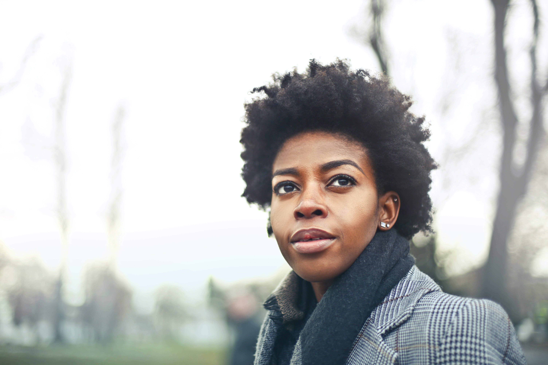 Woman Wears Black Suit Jacket Photography