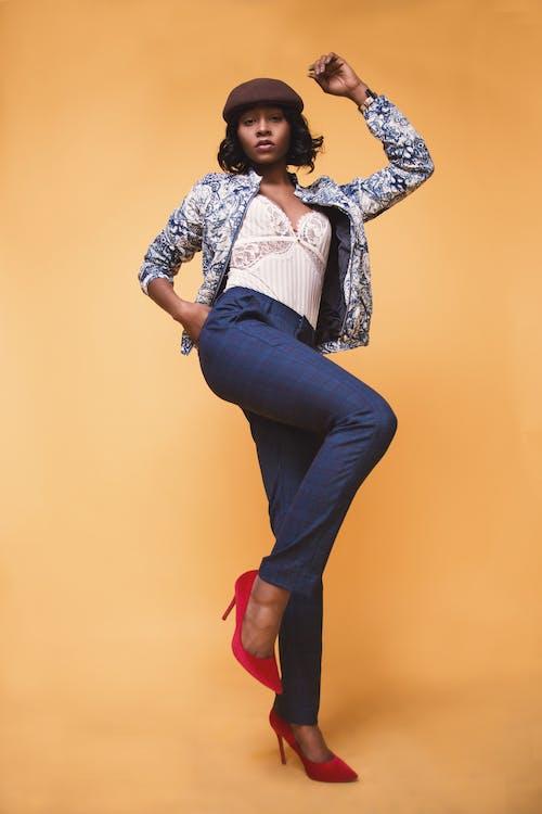 Free stock photo of beautiful, model, pose