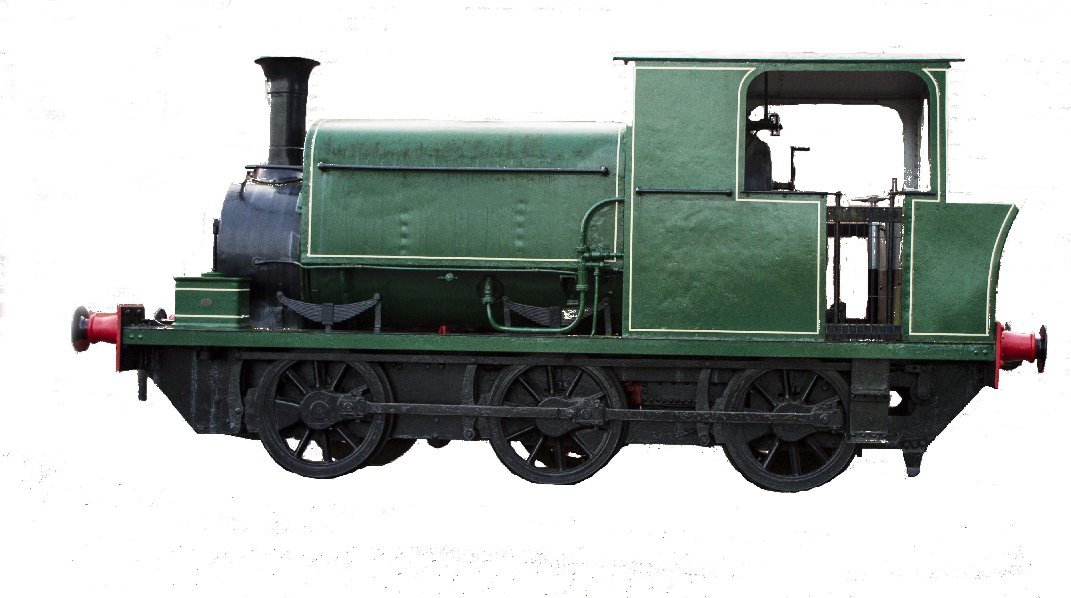Free stock photo of green steam engine, green train, railway, steam engine