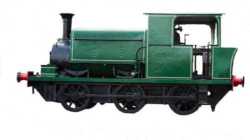 Gratis arkivbilde med dampmotor, damptog, grønn dampmotor, grønne tog