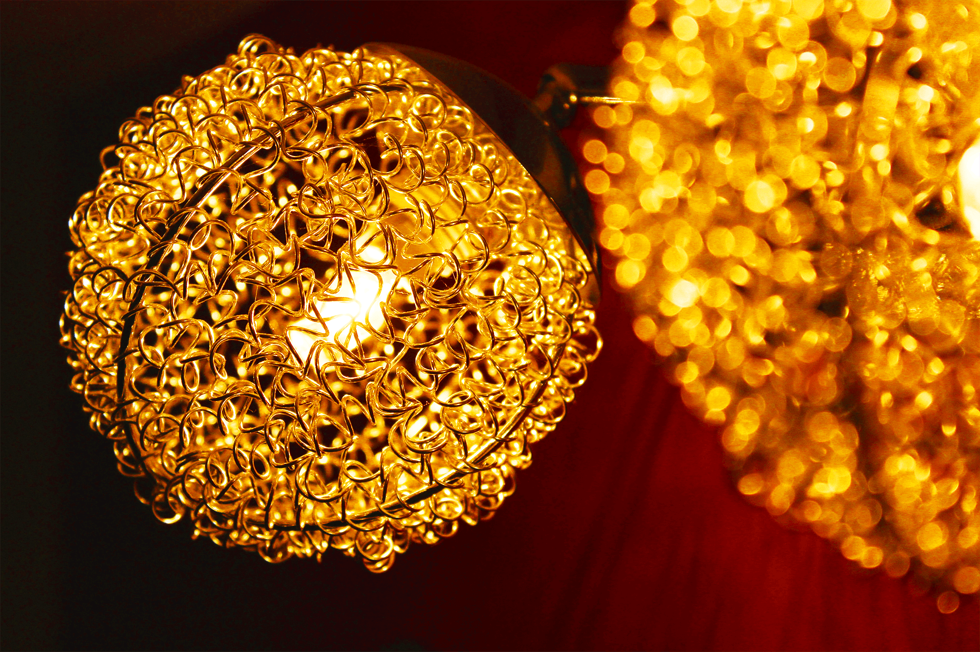 Macro Photography of Brown Crystal Pendant Lamp