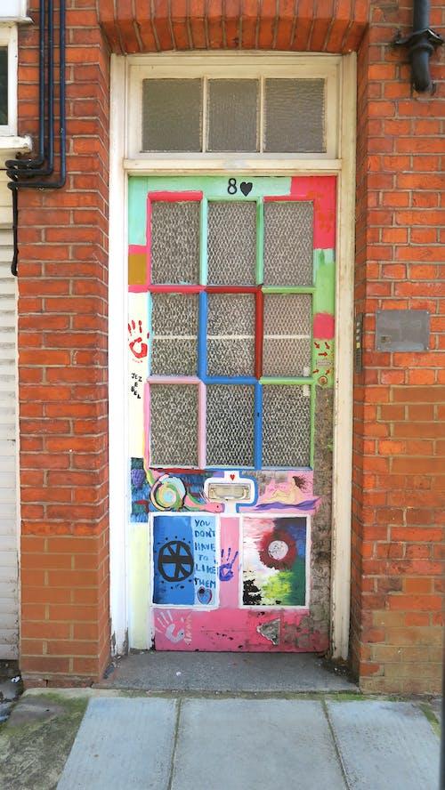 Free stock photo of art, door, front door