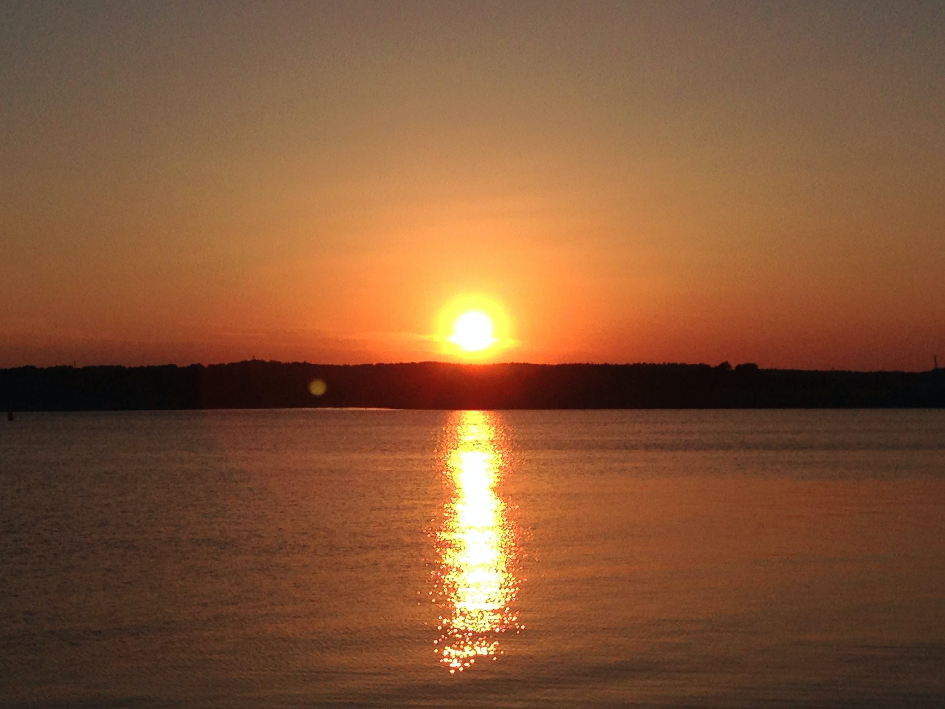 Free stock photo of sea, sunset, night, sun