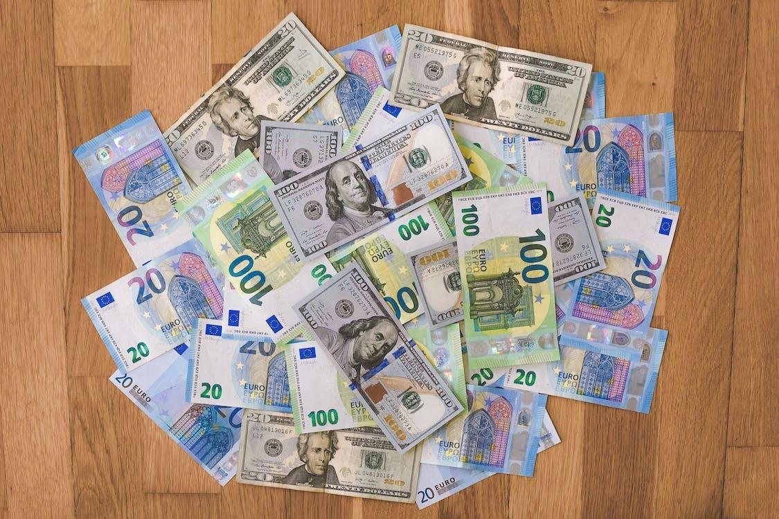 Photos gratuites de 20 euro, 200 euro, abondance