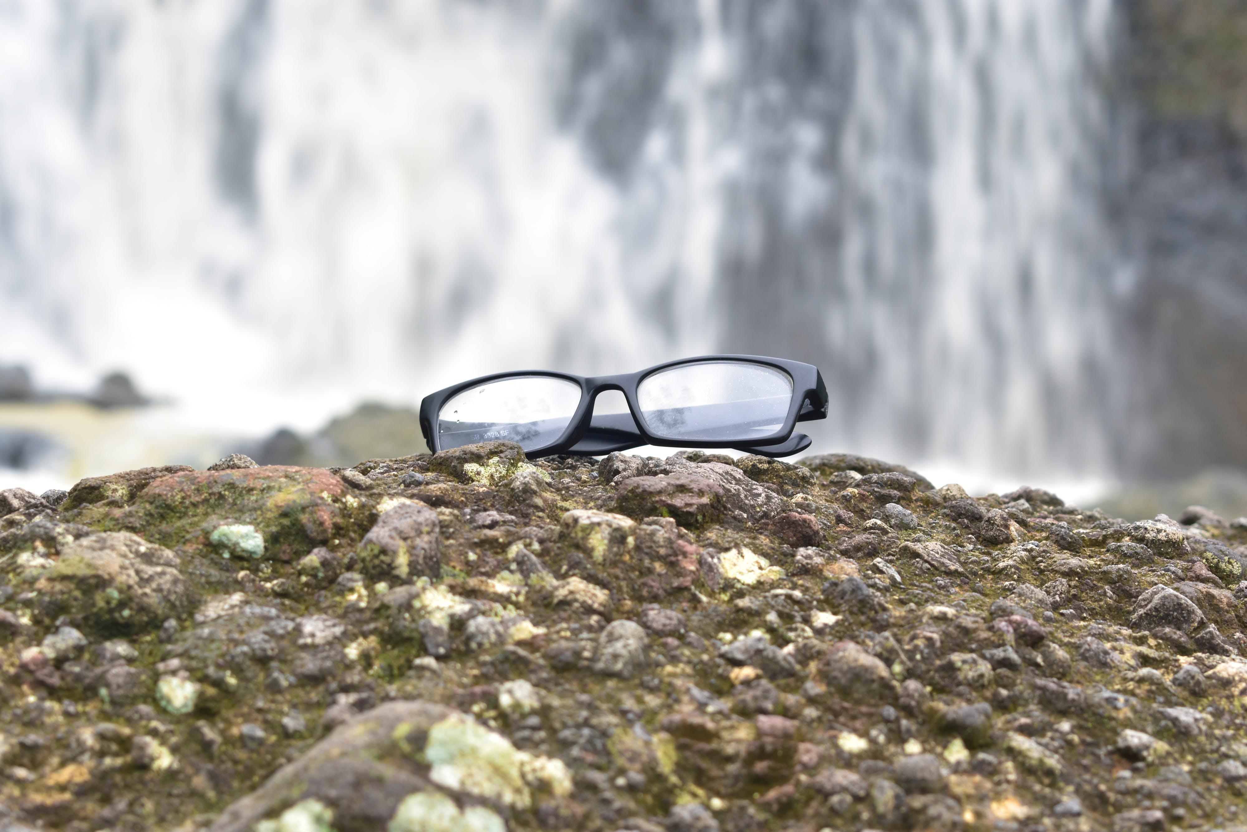 Free stock photo of glasses, lifestyle, nature, waterfall