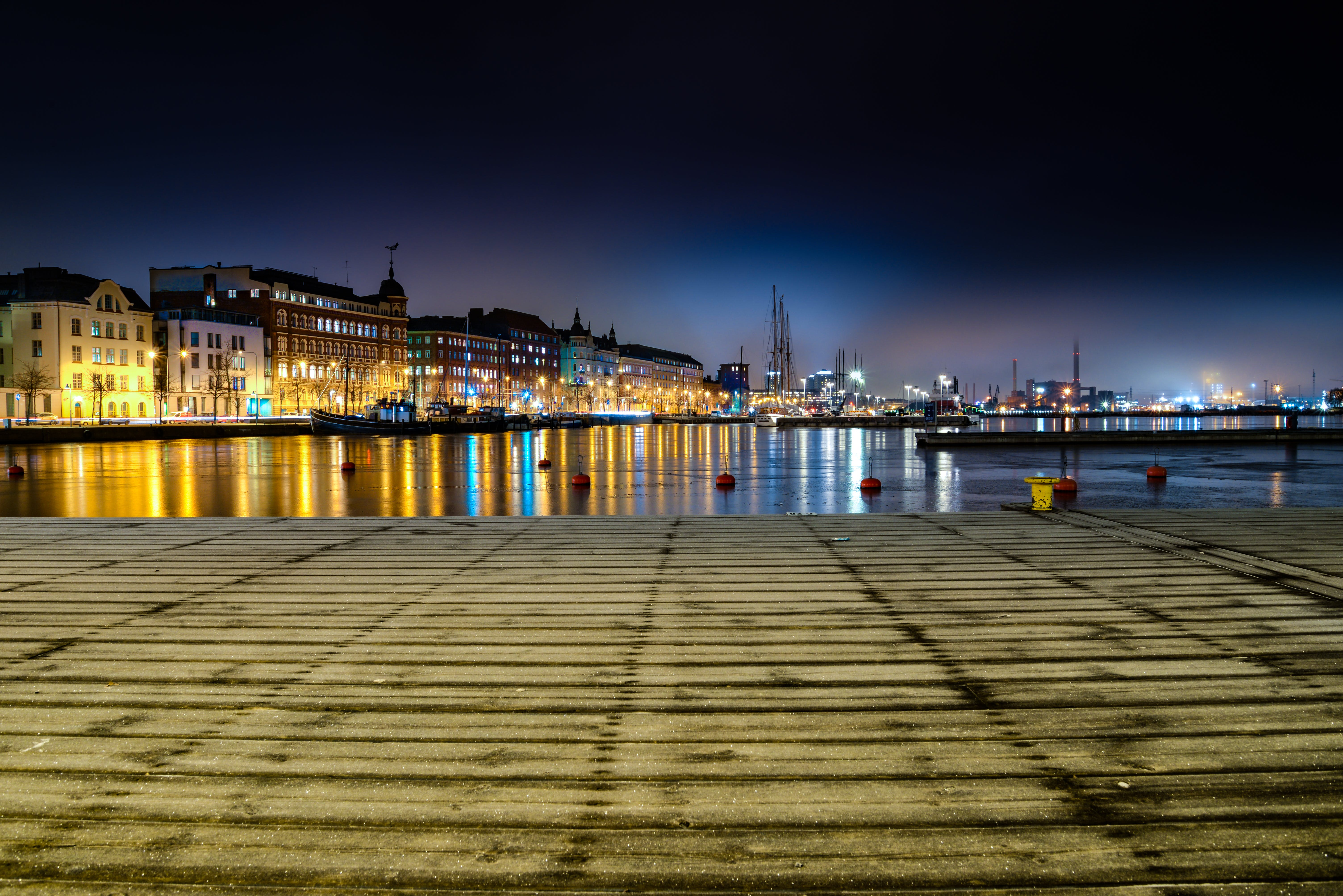 Panoramic Photo of City Buildings during Night Time