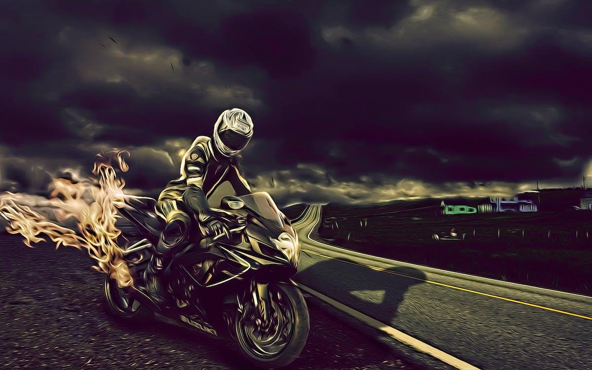 Δωρεάν στοκ φωτογραφιών με άνθρωπος, άτομο, μοτοσικλέτα