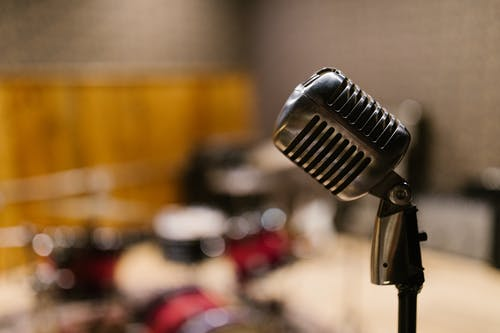 Selective Focus Photography of Microphone