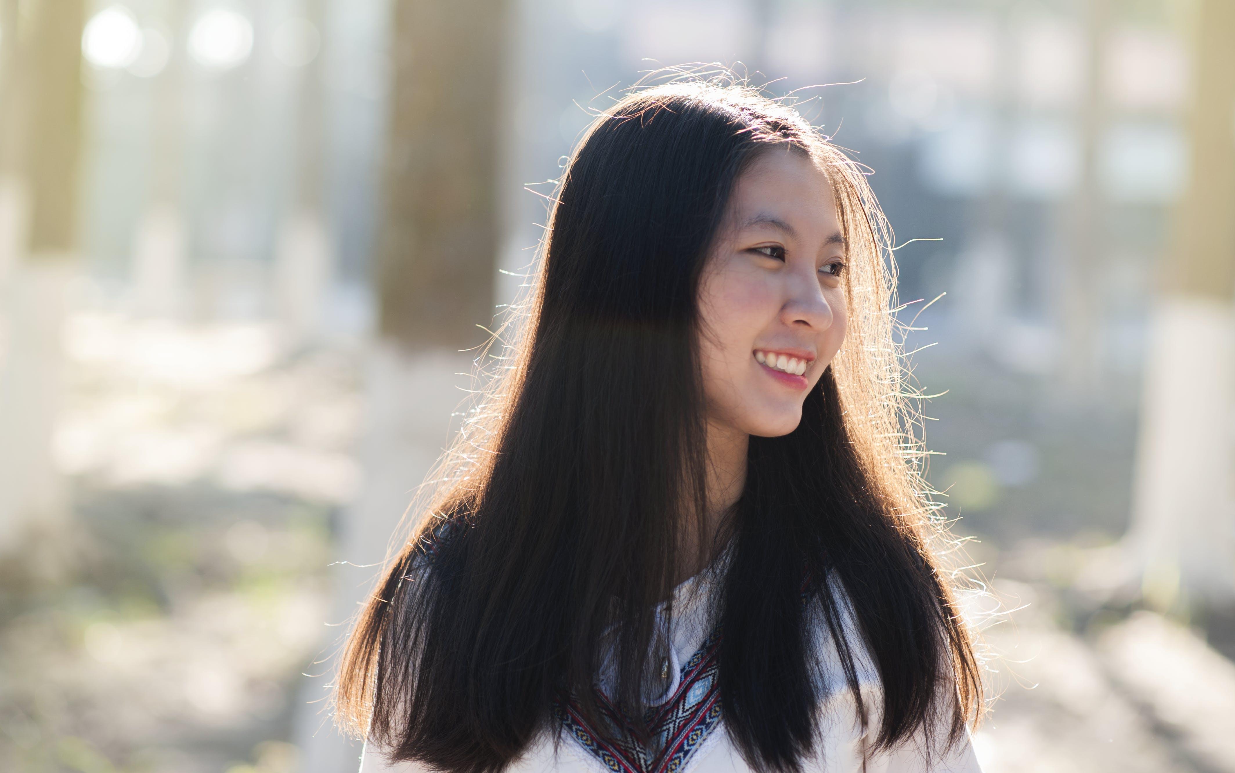 Girl Wearing Drawstring Shirt
