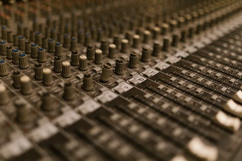 Silver and Gold Audio Mixer