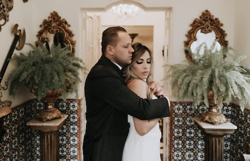 Free stock photo of affection, bride, christmas