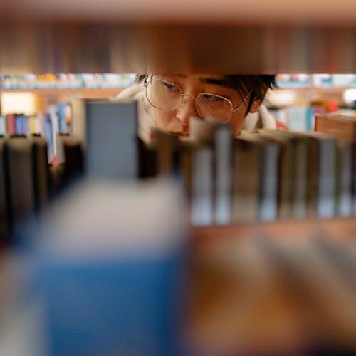Photos gratuites de à l'intérieur, adulte, bibliothèque