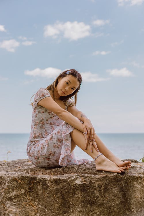 Free stock photo of beach, fashion, girl