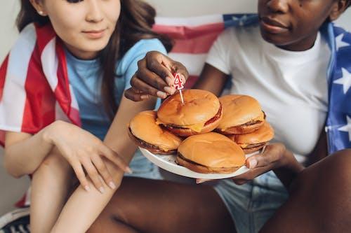 Základová fotografie zdarma na téma 4. července, burgery, Den nezávislosti