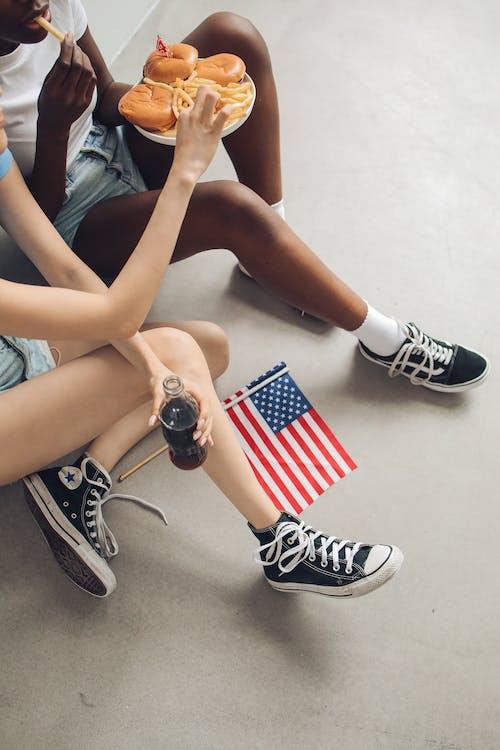 Základová fotografie zdarma na téma 4. července, americká vlajka, boty