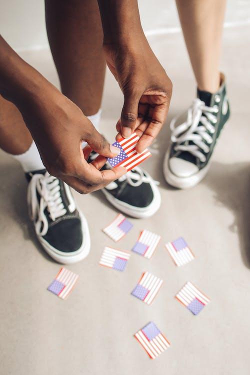 Foto stok gratis alas kaki, Hari Kemerdekaan, istri