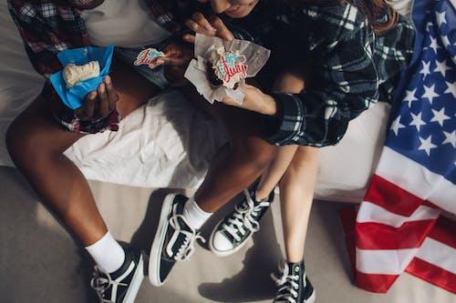 Gratis stockfoto met 4th of july, amerikaanse vlag, cupcakejes