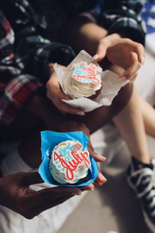 Gratis stockfoto met 4th of july, cupcakejes, cupcakes