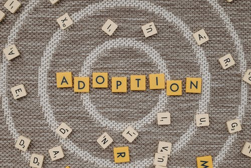 Adoption Text on Brown Surface