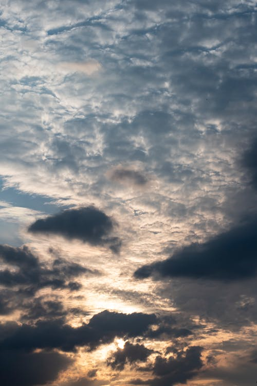Free stock photo of clouds at sunset